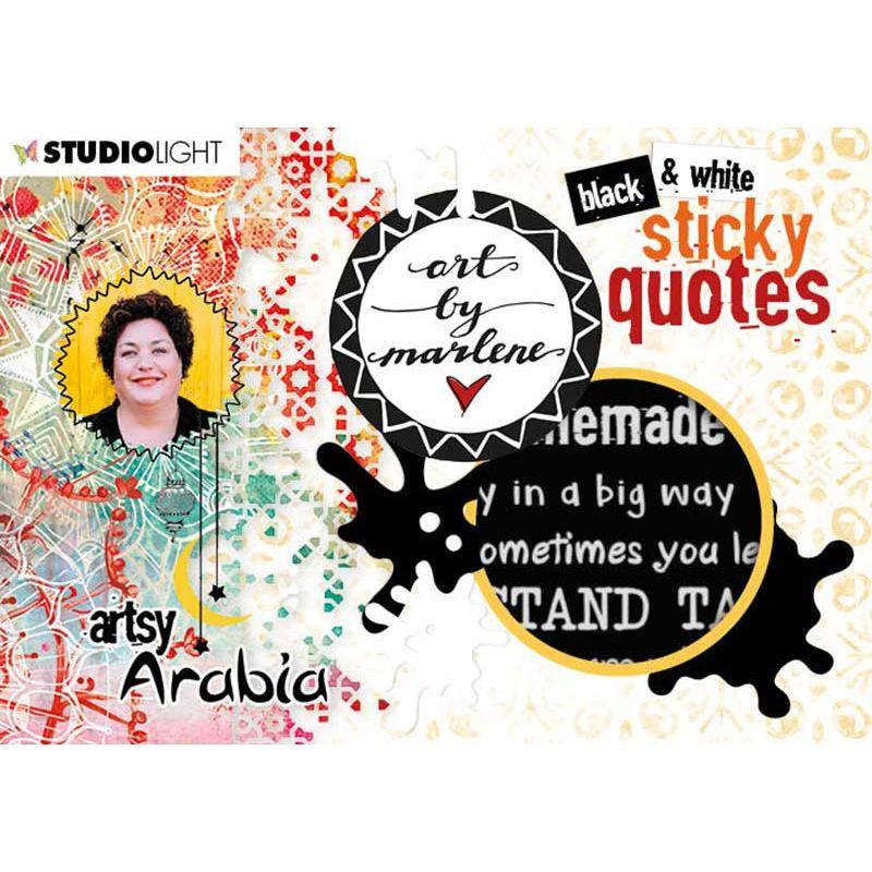 Art by Marlene Sticker Pad Quotes Artsy Arabia des.3 - Idézetek matrica-tömb