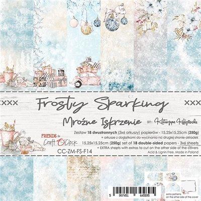 Frosty Sparking - papírkészlet 15,25x15,25cm