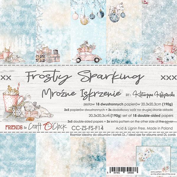 Frosty Sparking - papírkészlet 20,3x20,3cm