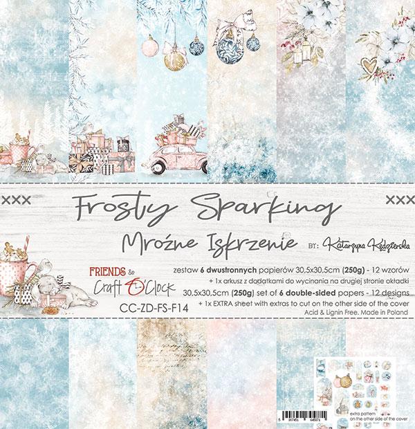 Frosty Sparking - papírkészlet 30,5x30,5cm