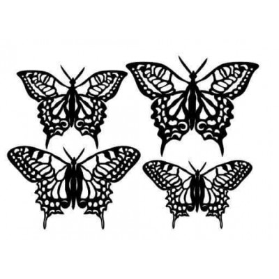 Butterflies chipboard