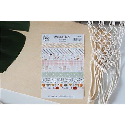 Cozy Time papír csíkok - színes matrica