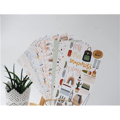 Cozy Time - mintás journal lapok