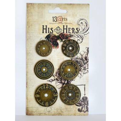 His and Hers fém órák (6 db)