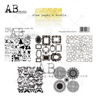 Glam paper's bundle Gold kivágóív kollekció