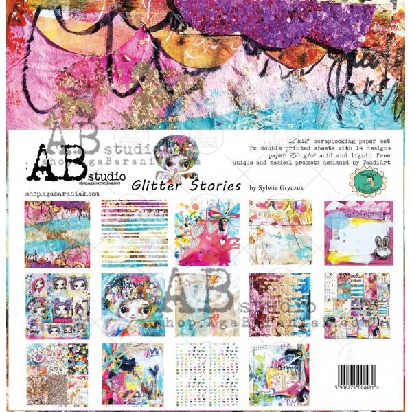 Glitter Stories 12-es scrapbook papír kollekció