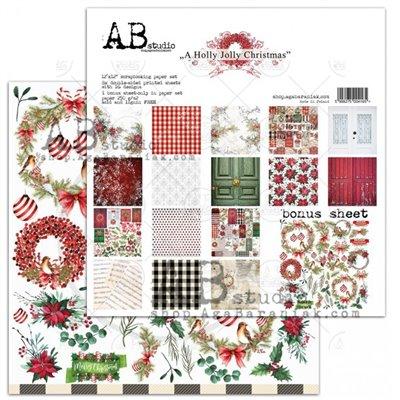A Holly Jolly Christmas 12-es scrapbook papír kollekció