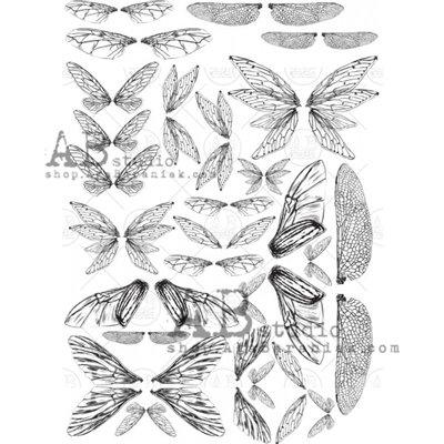 Ezüst fóliás mintás pauszpapír 0138