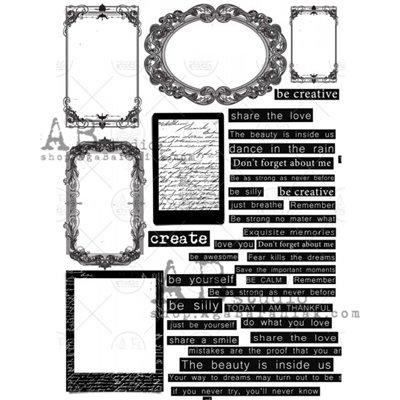 Arany fóliás mintás pauszpapír 0128