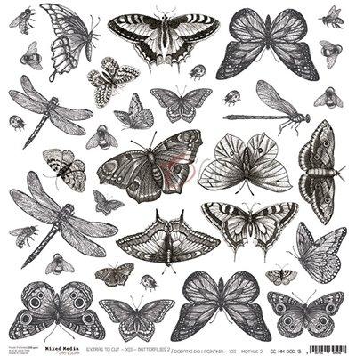 Mixed Media XIII Butterflies - II kivágóív