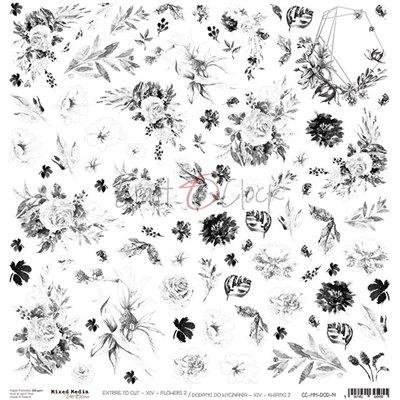 Mixed Media XIV Flowers - II kivágóív