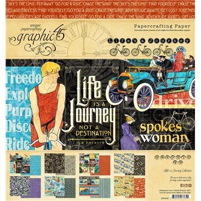 "Graphic 45 - Life's a Journey kollekció (8"" x 8"")"