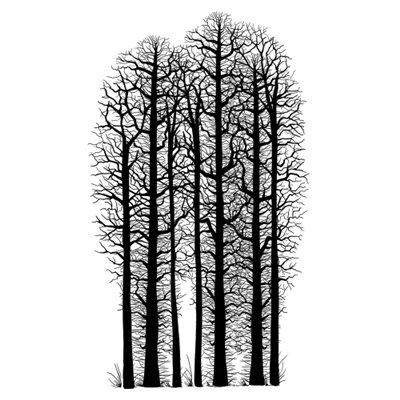 Forest Scene polimer bélyegző