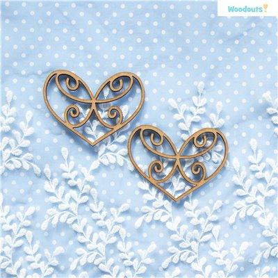 Áttört szívek 2db - 8cm