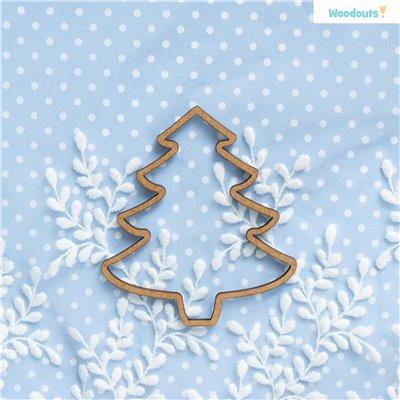 Karácsonyfa medál 2db - 10 cm