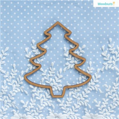 Karácsonyfa medál 2db - 15 cm