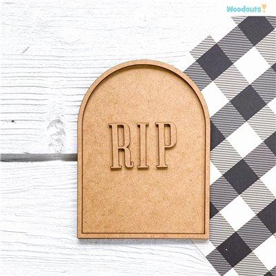 Sírkő kerettel és RIP felirattal - 17,5 cm