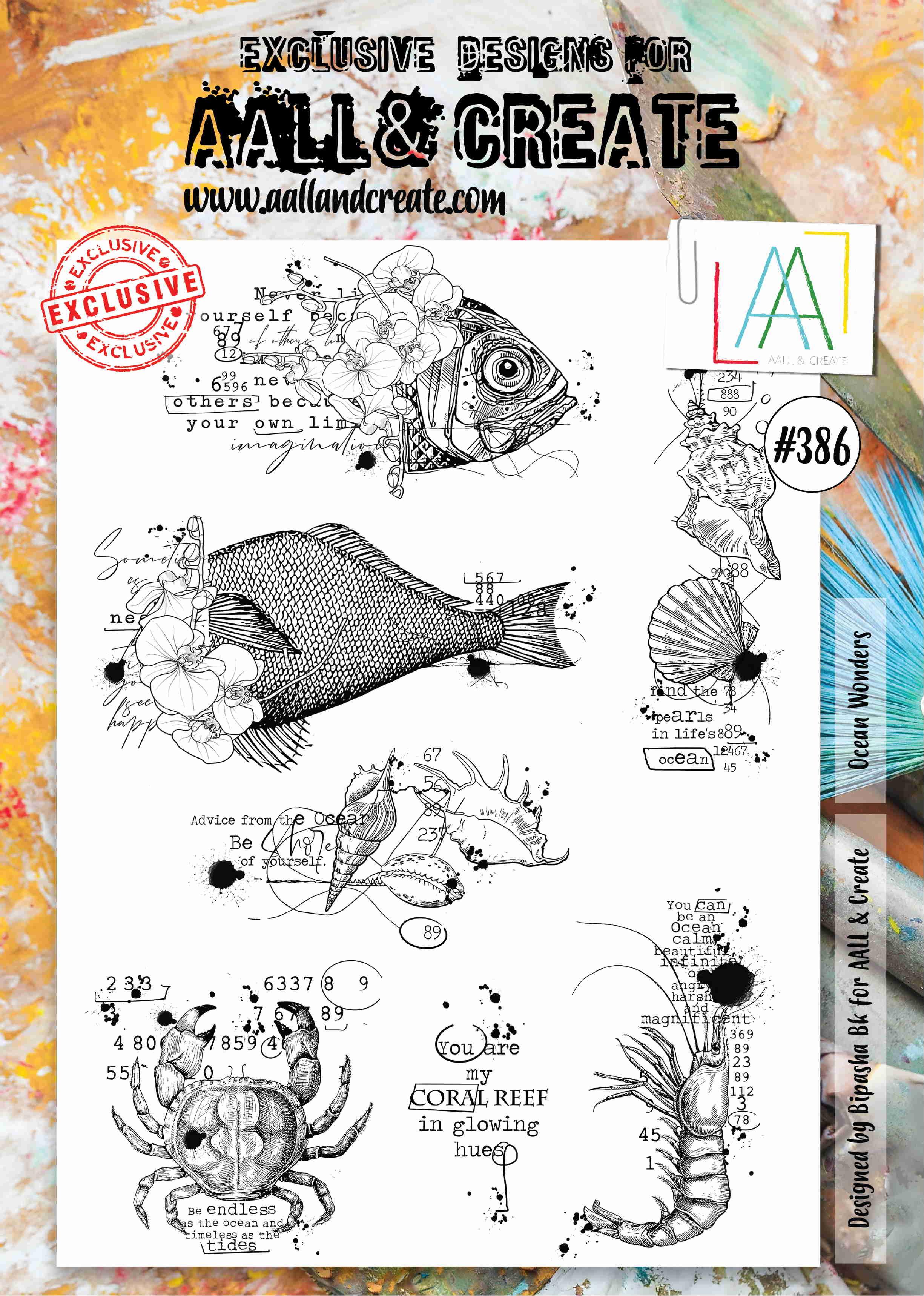 AALL and Create A4-es bélyegző no.386