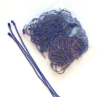 Golyós lánc 1,5 mm-es golyókkal - kék - 1 méter