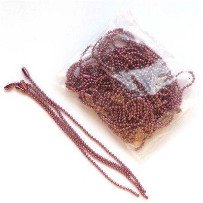 Golyós lánc 1,5 mm-es golyókkal - sötét rózsaszín - 10 cm