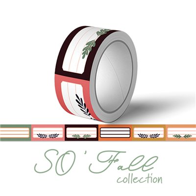So fall etiquettes washi tape - dekortapasz