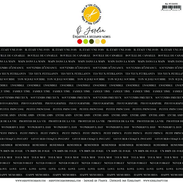 O Jardin etikett címkék - fekete