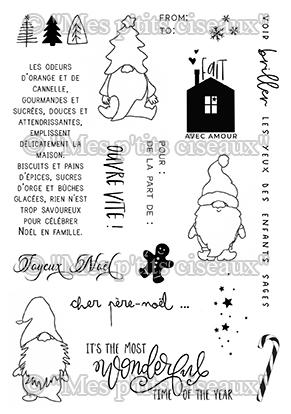 Cher Père-Noël szilikonbélyegző