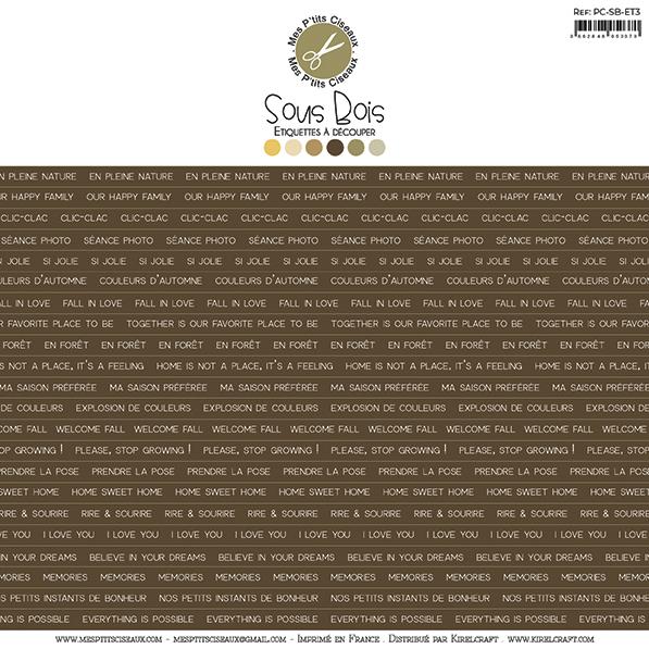 Sous-Bois etikett címkék - barna