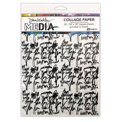 Dina Wakley Media Collage Paper - Just Words