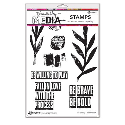 Dina Wakley Media Cling Stamp - Be Willing
