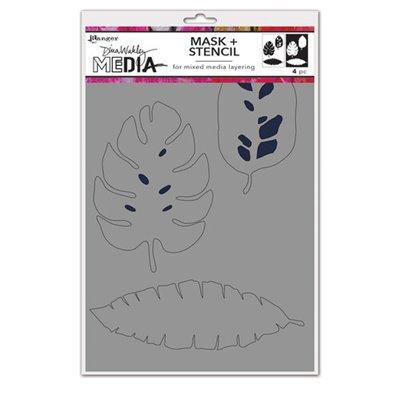 Dina Wakley Media Stencil és Maszk - Tropical