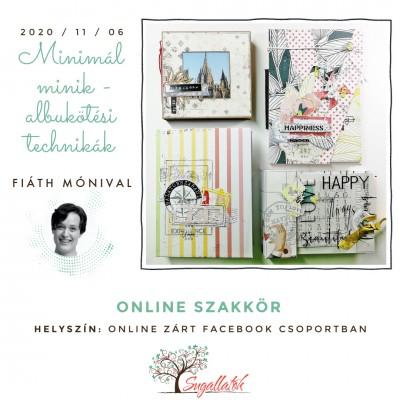 Minimal minik - albumkötési technikák - ONLINE SZAKKÖR