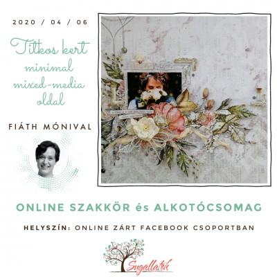 A titkos kert - virágos minimal mixed media online workshop