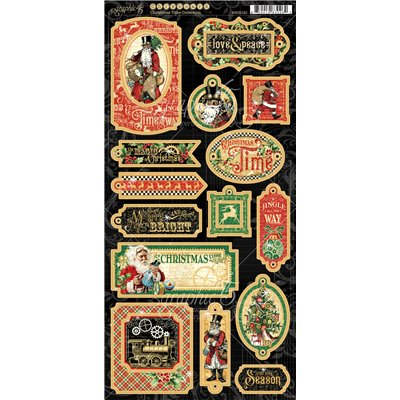 Graphic 45 - Christmas Time chipboard - kartonmatrica