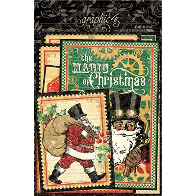 Graphic 45 - Christmas Time Ephemera & Journaling Cards
