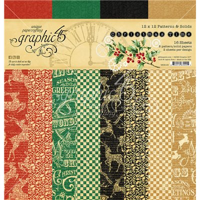 "Graphic 45 - Christmas Time Patterns & Solid Pad (12x12"")"