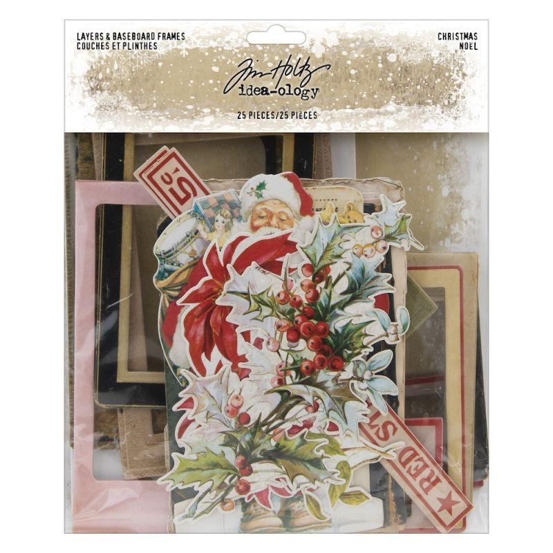 Idea-ology - Tim Holtz - Layers & Baseboard Frames Christmas (25db)