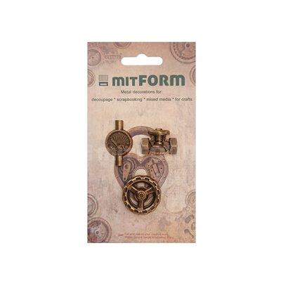 Mitform Tubes & Valves 4 Metal Embellishments