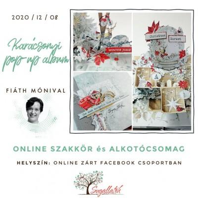 Karácsonyi pop-up album - ALKOTÓCSOMAG + ONLINE SZAKKÖR