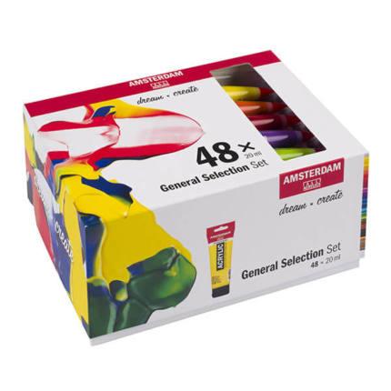 Talens Amsterdam akrilfesték készlet - 48x20 ml