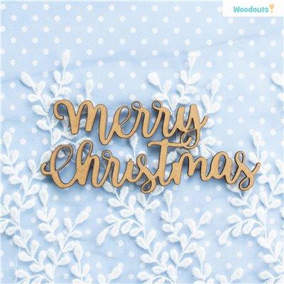 Merry Christmas felirat - 13 cm