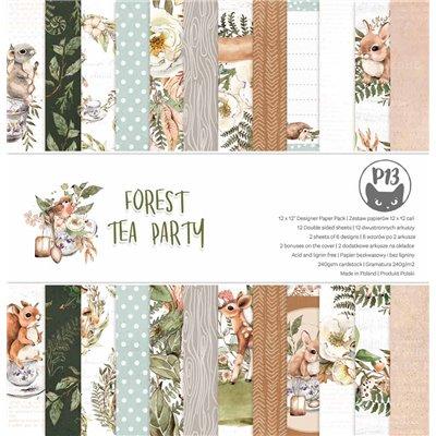 """Forest Tea Party - 12""""-es mini kollekció (6 db 2 oldalas papír + 1 db kivágóív)"""