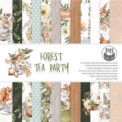 """Forest Tea Party - 6""""-es kollekció (24 db 2 oldalas papír + 2 db kivágóív)"""