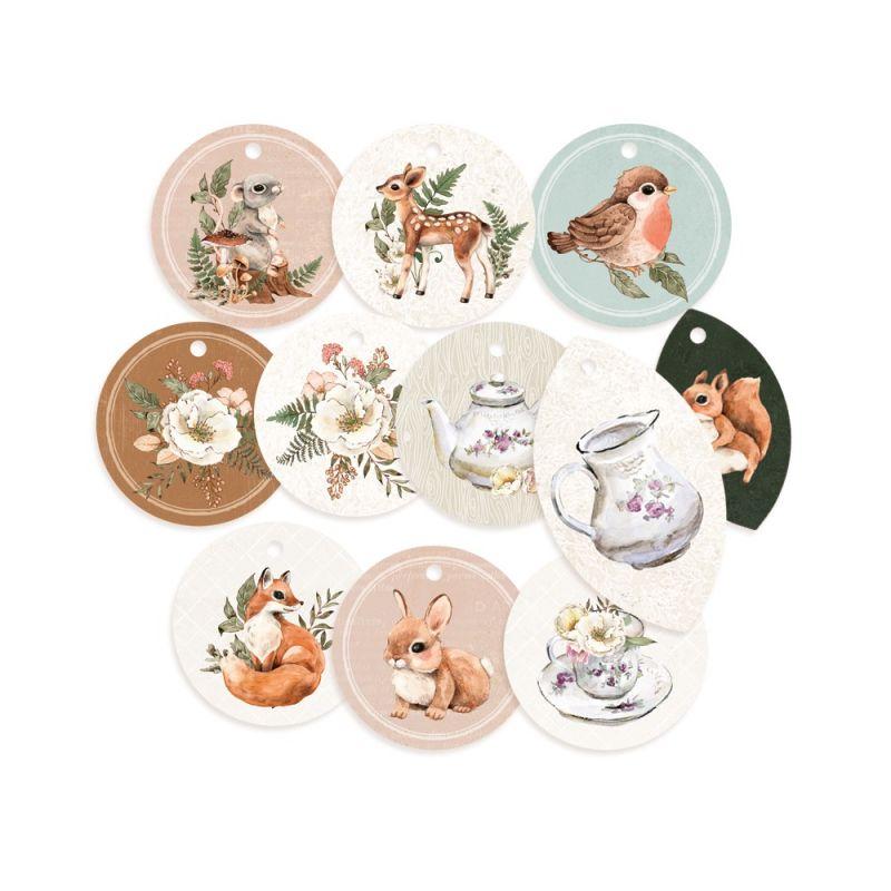Forest Tea Party - dekorációs címkék 01 - 11 db