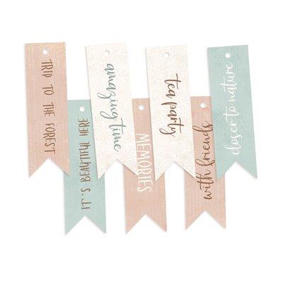 Forest Tea Party - dekorációs címkék 02 - 7 db