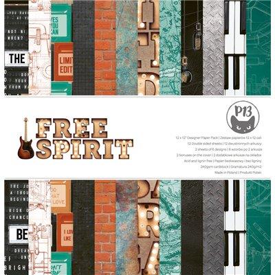 """Free Spirit - 12""""-es mini kollekció (6 db 2 oldalas papír + 1 db kivágóív)"""