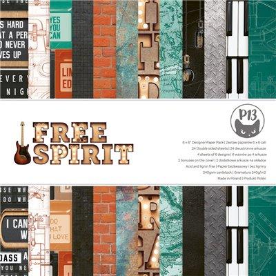 """Free Spirit - 6""""-es kollekció (24 db 2 oldalas papír + 2 db kivágóív)"""