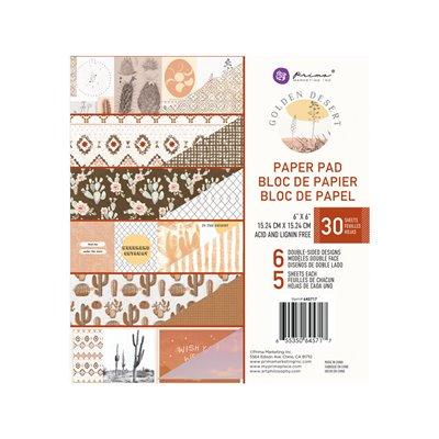 Golden Desert kollekció 6×6 paper pad – 6″ X 6.5″, 30 lap