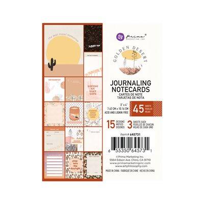 """Golden Desert kollekció 3x4"""" Journaling Cards - 3x4"""" , 45 lap"""