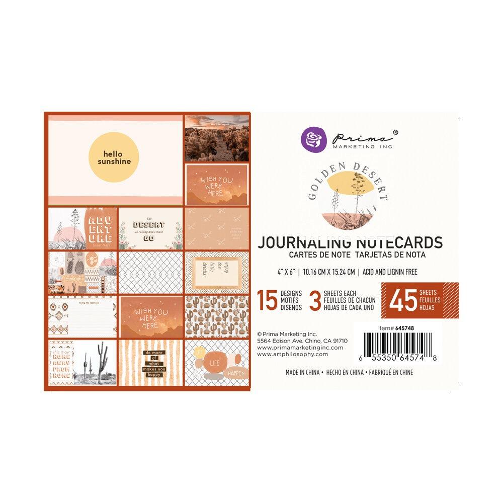 """Golden Desert kollekció 4x6"""" Journaling Cards - 4x6"""" , 45 lap"""